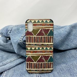 iPhone X/XS Case Brown Abstract